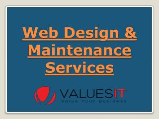 Web Design & Maintenance Services