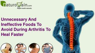 Unnecessary And Ineffective Foods To Avoid During Arthritis