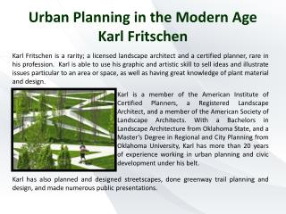 Urban Planning in the Modern Age Karl Fritschen