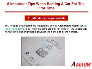6 Important tips when renting a car for the first time