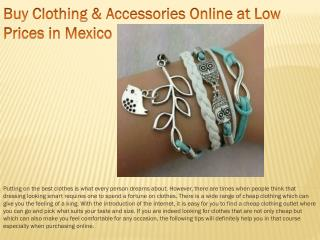 Buy Clothing & Accessories Online at Low Prices in Mexico