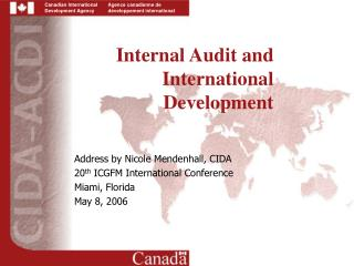 Internal Audit and International Development