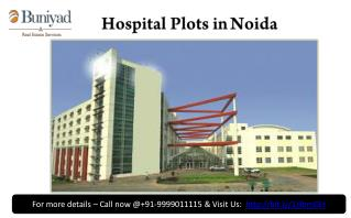 Hospital Plots For Sale in Noida