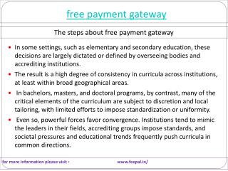 Visit the best site of free payment gateway