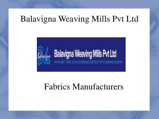 Fabrics Manufacturers