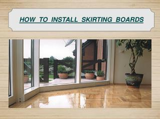how to install new skirting boards