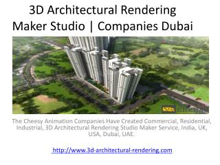 3D Architectural Rendering Maker Studio | Companies Dubai