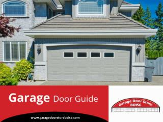 Tips to Choose Garage Doors in Boise