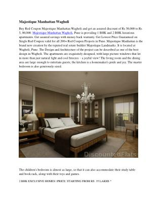 Get Discount upto 5 Lacs | Majestique Manhattan