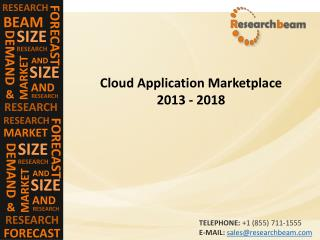 Cloud Application Marketplace 2013 - 2018