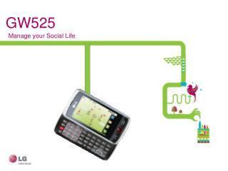 LG GW525, Manage your Social Life