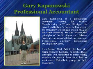 Gary Kapanowski Professional Accountant