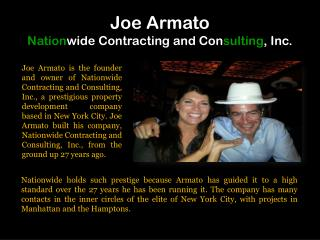 Joe Armato Nationwide Contracting and Consulting, Inc.