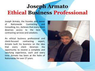 Joseph Armato Ethical Business Professional