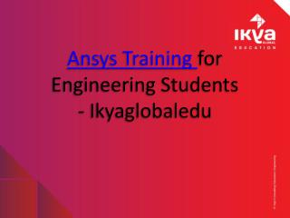 Ansys Training for Engineering Students