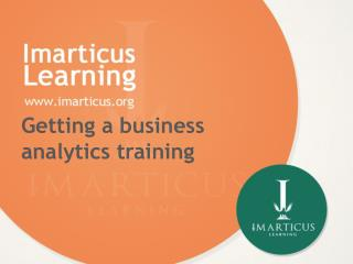 Getting a business analytics training