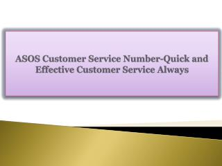 ASOS Customer Service Number-Quick and Effective Customer Se