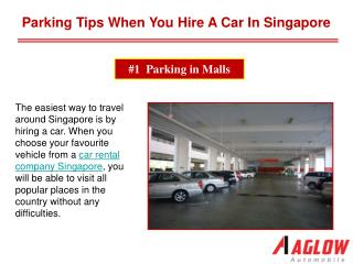 Parking tips when you hire a car in Singapore