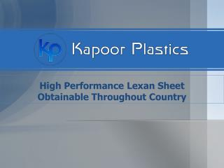 Lexan Polycarbonate Sheets in India