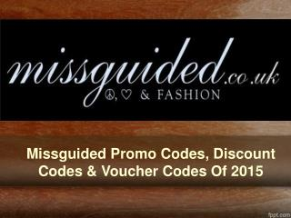 Missguided Promo Codes, Discount Codes & Voucher Codes Of 20