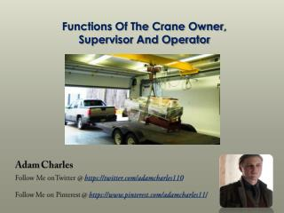 Responsibilities of Crane Handlers and Staff Working around