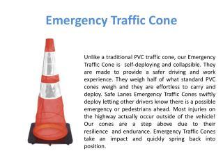 Emergency Traffic Cone