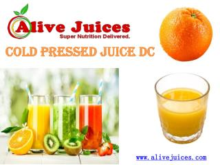 Cold Pressed Juice DC