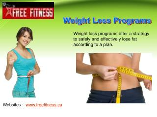 Choose Right Weight Loss Programs