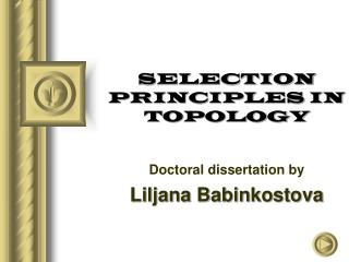 SELECTION PRINCIPLES IN TOPOLOGY