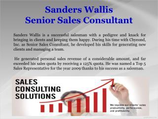 Sanders Wallis_Senior Sales Consultant