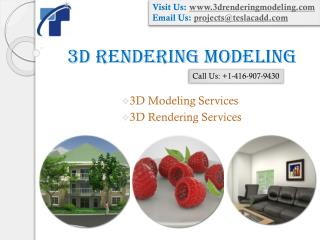3D Rendering Modeling delivers high quality 3D Modeling and