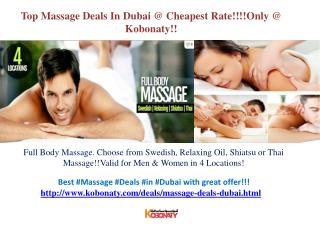 Massage Deals Dubai