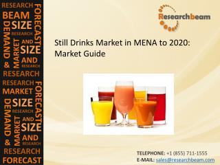 Still Drinks Market in MENA to 2020: Market Size, Growth