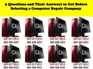 Computer Repair Company Burnaby