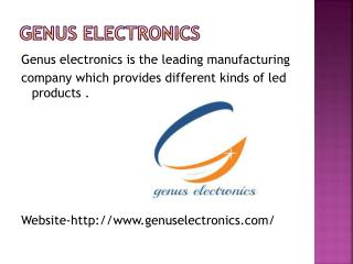 Get LED Lights by Genus Electronics