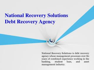 National Recovery Solutions_Debt Recovery Agency
