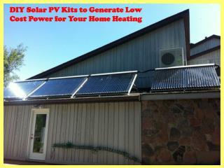 DIY solar PV kits