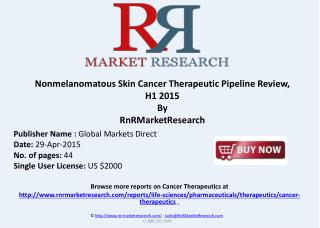 Nonmelanomatous Skin Cancer Therapeutic Pipeline Review 2015
