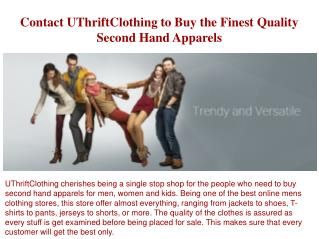 Online Mens Clothing Stores