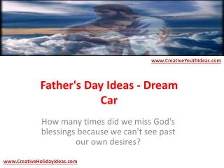 Father's Day Ideas - Dream Car