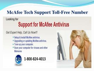 McAfee Tech Support Toll-Free Number | 1-800-824-4013