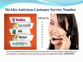 McAfee Antivirus Customer Service Number | 1-800-824-4013