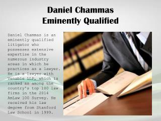 Daniel Chammas_Eminently Qualified