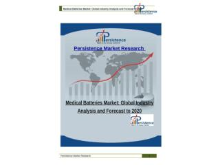 Medical Batteries Market: Global Industry Analysis and Forec