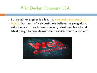 Affordable Web Design Company USA