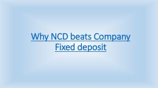 Why NCD beats Company Fixed deposit