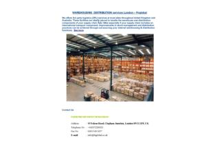 WAREHOUSING  DISTRIBUTION services London – Fnglobal