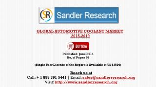 Automotive Coolant Market 2019 – Key Vendors Research