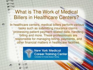 Medical Billing – A Cashing Career in Healthcare Field