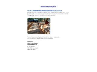 Basement Waterproofing Bel Air